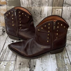 Lucky Brand Cicily Leather Studded Ankle Boots